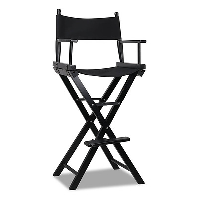 Tall Director Chair - Black - Brand New - Free Shipping