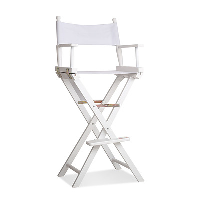 Tall Director Chair - White - Free Shipping
