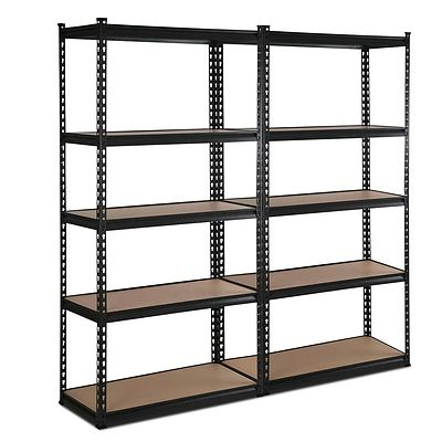 5 Tier Industrial Shelving Unit Set of 2 - Black  - Brand New - Free Shipping
