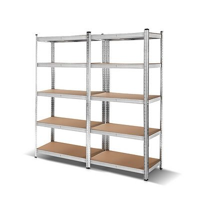 2x0.9M Warehouse Shelving Racking Storage Garage Steel Metal Shelves Rack - Brand New - Free Shipping