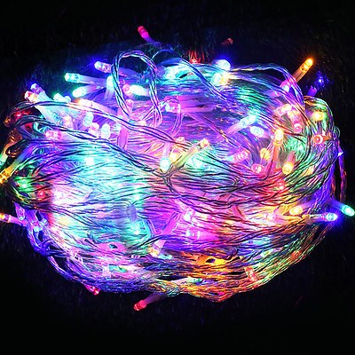 Jingle Jollys 100M Christmas String Lights 500LED Multi Colour