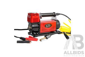 Giantz 12V Portable Air Compressor - Red