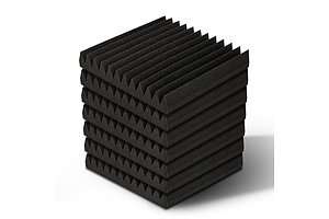 20pcs Studio Acoustic Foam Sound Absorption Proofing Panels 30x30cm Black Wedge  - Brand New - Free Shipping