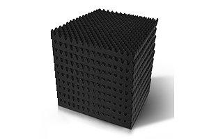 20pcs Studio Acoustic Foam Sound Absorption Proofing Panels 50x50cm Black Eggshell  - Brand New - Free Shipping