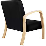 Wooden Arm Chair with Sponge Cushion - Black - Free Shipping