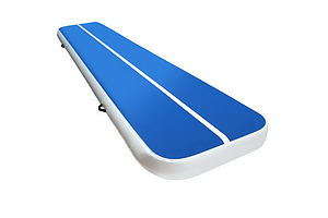 4m x 1m Inflatable Air Track Mat 20cm Thick Gymnastic Tumbling Blue And White - Brand New - Free Shipping