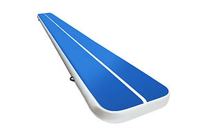 6m x 1m Inflatable Air Track Mat 20cm Thick Gymnastic Tumbling Blue And White - Brand New - Free Shipping