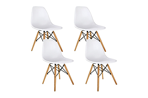 Set of 4 Replica Eames Eiffel Dining Chairs White - Brand New - Free Shipping