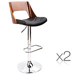 Set of 2 Wooden Bar Stools - Brand New