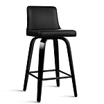 Set of 2 Walnut Wooden Bar Stool - Black and Walnut - Brand New - Free Shipping