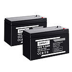 2X 12V 7.2Ah SLA Battery AGM Rechargeable Sealed Lead Acid Batteries
