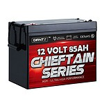 85Ah Deep Cycle Battery 12V AGM Marine Sealed Power Portable Box Solar