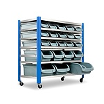 22 Bin Warehouse Racking Storage Rack - Free Shipping