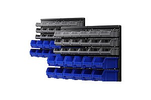 60 Bin Wall Mounted Rack Storage Tools Garage Organiser Shed Work Bench - Brand New - Free Shipping