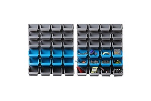 48 Bin Wall Mounted Rack Storage Organiser - Brand New