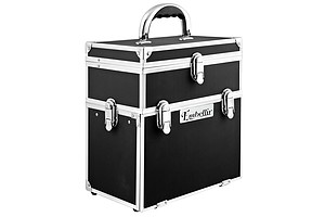 Portable Cosmetic Beauty Carry Case Box Black with Mirror - Brand New - Free Shipping