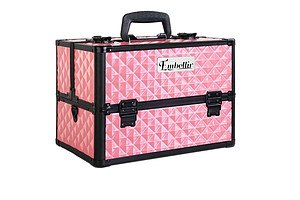 Portable Cosmetic Beauty Make Up Carry Case Box Pink - Free Shipping