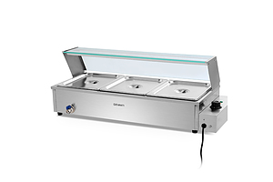 Commercial Food Warmer Bain Marie Electric Buffet Pan Stainless Steel - Brand New - Free Shipping