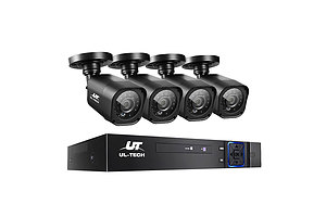 8CH 5 IN 1 DVR CCTV Security System Video Recorder /w 4 Cameras 1080P HDMI Black - Brand New - Free Shipping