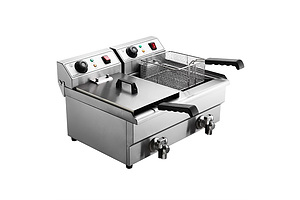 Commercial Electric Deep Fryer Twin Frying Basket Chip Cooker Countertop - Brand New - Free Shipping