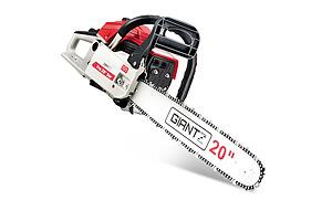 58CC Commercial Petrol Chainsaw - Red & White - Free Shipping