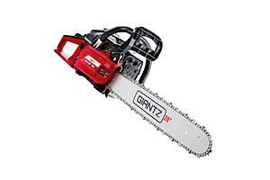 52CC Petrol Commercial Chainsaw Chain Saw Bar E-Start Black