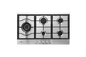Gas Cooktop 90cm Kitchen Stove Cooker 5 Burner Stainless Steel NG/LPG Silver - Brand New - Free Shipping