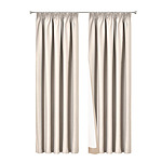 2 Pencil Pleat 180x213cm Blockout Curtains - Sand