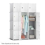 12 Stackable Cube Storage Cabinet - White - Free Shipping