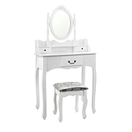 3 Drawer Dressing Table with Mirror White - Brand New - Free Shipping