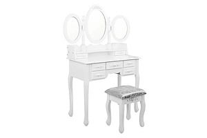7 Drawer Dressing Table w/ Mirror White - RRP: $693.04 - Brand New - Free Shipping
