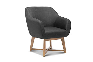 Aston Tub Accent Chair Charcoal - Brand New - Free Shipping