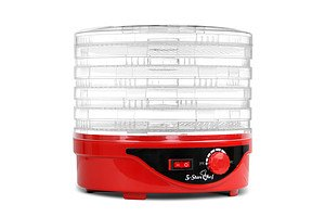 5 Tray Round Food Dehydrator Red - Brand New - Free Shipping
