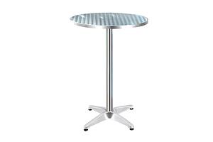 Outdoor Bar Table Indoor Furniture Adjustable Aluminium Round 70/110cm - Brand New - Free Shipping
