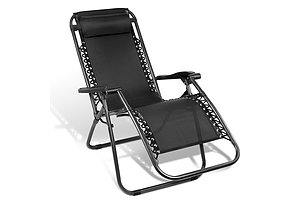 Outdoor Portable Zero Gravity Reclining Chair - Black - Free Shipping