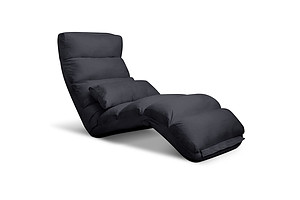 Lounge Sofa Chair - 75 Adjustable Angles Charcoal - Free Shipping