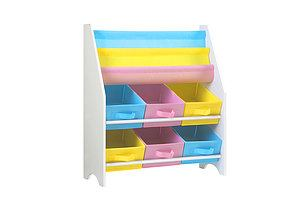 Kids Bookcase Childrens Bookshelf Toy Storage Organizer 2 Tiers Shelves - Brand New - Free Shipping