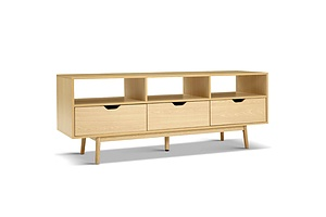 Wooden Scandinavian Entertainment Unit - Natural - Brand New - Free Shipping
