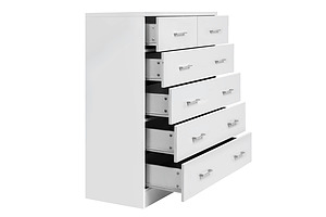 Tallboy 6 Drawers Storage Cabinet White - Brand New - Free Shipping