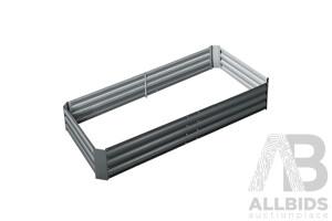 180x90x30CM Galvanised Raised Garden Bed Steel Instant Planter