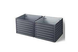 Garden Bed 2PCS 100X100X77CM Galvanised Steel Raised Planter