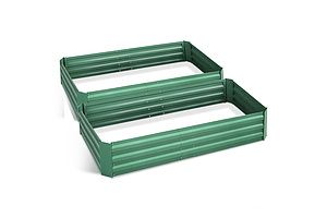 Garden Bed 2PCS 210X90X30cm  Galvanised Steel Raised Planter Green - Brand New - Free Shipping