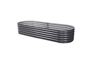 240X80X42CM Galvanised Raised Garden Bed Steel Instant Planter