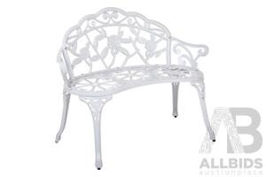 Victorian Garden Bench – White
