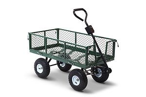Mesh Garden Steel Cart - Green - Free Shipping
