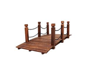 Garden Rustic Chain Bridge Wooden Decoration Decor Landscape 160cm Length Rail - Brand New - Free Shipping