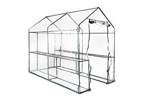 Greenhouse with Transparent PVC Cover - 1.9M x 1.2M - Brand New