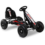 Kids Pedal Powered Go Kart - Black - Free Shipping