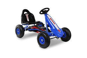 Kids Pedal Go Kart Car Ride On Toys Racing Bike Blue - Brand New - Free Shipping