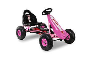 Kids Pedal Powered Go Kart - Pink - Free Shipping